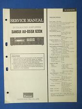 SANSUI AU-G55X AU-G33X SERVICE MANUAL ORIGINAL FACTORY ISSUE THE REAL THING