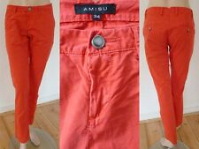 Amisu Hose Sommer Girl Chinos lässiger Casual Style rot Gr 34 Top Zustand