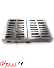 Sterilization Stainless Cassette Tray,Rack  for 10 Dental or Surgical instrument