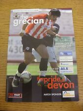 29/07/2006 Exeter City v Swansea City [Friendly] .  This item is supplied by Foo