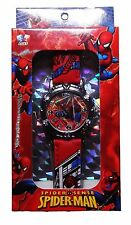 Marvel Comics SPIDERMAN Red Strap Boxed WRIST WATCH