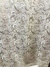 "2M sliver WHITE COLOUR PAISLEY METALLIC BROCADE /JACQUARD FABRIC 58"" WIDE"