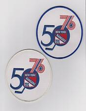 LOT OF TWO NEW YORK RANGERS 50TH ANNIVERSARY PATCH BLUE AND WHITE JEREY PATCHES