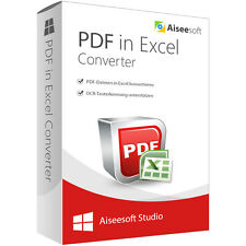 PDF in Excel Converter WIN Aiseesoft dt.Vollversion-lebenslange Lizenz Download