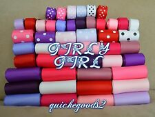 64 yards Girly Girl Pinky Hair Wholesale Mixed Grosgrain Ribbon Supplies Lot USA