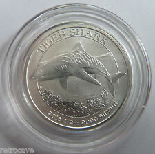 2016 Australian / Perth Mint Tiger Shark 1/2 oz .9999 Silver Bullion Coin