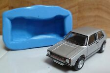 3D VW GOLF GTI CAR SILICONE MOULD FOR CAKE TOPPERS, CHOCOLATE ETC
