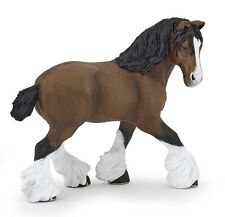 Papo 51552 Bay Shire Mare Model Draft Horse Replica Figurine 2016 - NIP