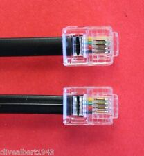 "RJ11 to RJ11 ""15CMS"" ADSL 4 Wire Broadband Cable Black for Router to ADSL Filter"