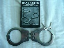MENOTTES en ACIER HAND CUFFS INTERVENTION GARDIENNAGE POLICE COQUIN SEXY TOY SM