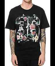 EMPYRE Varsity Rose Flower T-shirt Floral #36 Tee Adult Mens XL Black New