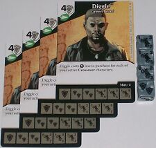 4 x DIGGLE: GREEN BERET 13 Green Arrow and The Flash Dice Masters