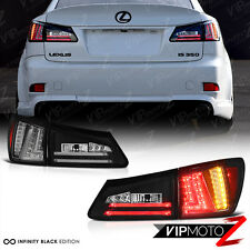 2006 2007 2008 Lexus IS250 IS350 ISF Black Rear LED Tail Lights Brake Lamps 4PC