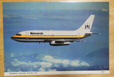 Postcard of Monarch Airlines 737 from 1980s Unposted, VGC Aeroplane