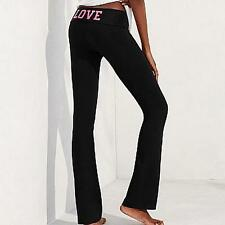 VICTORIA'S SECRET $34 MOST LOVED FOLDOVER YOGA PANTS M SHORT *PINK CITRUS LOVE*