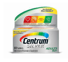 Centrum SILVER Adults 50+ MULTIVITAMIN/MULTIMINERAL  80Tabs (EXP:Sept'17)