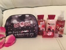 Bath Body Works Japanese Cherry Blossom Travel Essential Mini Bag Mist Wash