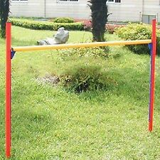 Dog Agility Training Bar equipment pet show exercise puppy jump hoop tunnel NEW
