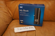 WD Western Digital My Book 4TB Desktop External Hard Drive HD, USB 3.0