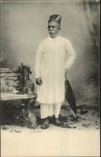 Native Parsi Man of India - Publ in Bombay c1905 Postcard