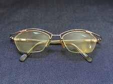 woman's vintage cazal semi rimless prescription Rx glasses model 404 size 52-18