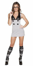 Sexy Plus Size Bad Teacher Halloween Costume Grey/Black X-LARGE ON SALE