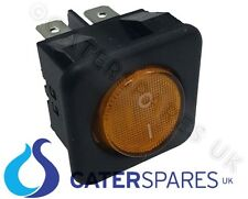 16a AMBRA al NEON ROCKER SWITCH POWER ON OFF BIPOLARE 4 PIN 25x25mm QUADRATO ip40