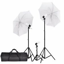 "675W 33"" Photography Photo Studio Soft Umbrella Continuous Lightning Stand Kit"