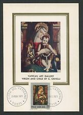 VATICAN MK 1971 GEMÄLDE MADONNA JESUS ART MAXIMUMKARTE MAXIMUM CARD MC CM c9251
