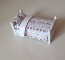 24th Scale Dressed Miniature Bed For A Dolls House