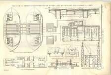 1893 el Tower Bridge 16 disposición de maquinaria hidráulica para abrir abarca
