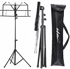 ADM Folding Adjustable Music Stand with Carrying Bag, Portable Metal Holder New