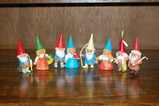 David The Gnome Set of 8 Gnomes Rubber Toys Smoking Pipe Asian Man with Cane