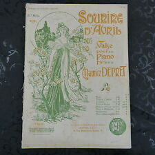 salon piano MAURICE DEPRET sourire d`avril , with nice cover art