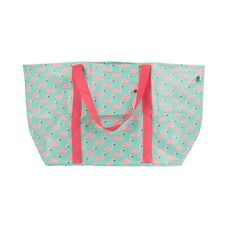 Large Flamingo Print Foldable Shopping Shoulder Tote Bag by Sass & Belle