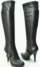 Nine West Jaelynn Knee High boot Sexy Leather Heel Black women's Size 9.5M