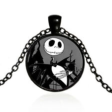 Jack Skellington Nightmare Before Christmas - Glass Pendant Necklace