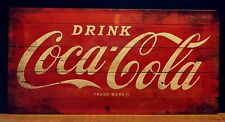 Coca Cola Drink Red Label - Large Embossed Metal  Sign  ( 50 x 25 cm)