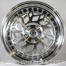 17X8 +30 Esm 019 5X100 Silver Wheel Fit Scion Xd Tc Fr-S Gt86 Vw Jetta Golf WRX