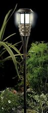 Gardman Rattan Outdoor Garden Path Stick Pick Post Plastic Solar Powered Light