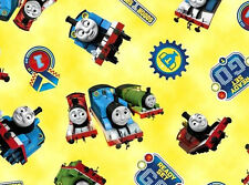 THOMAS THE TANK ENGINE  STEAM TEAM  JAMES PERCY  QUILTING COTTON FABRIC  YARDAGE