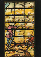 Postcard Shepherds & Sheep, from Window XVII at King's College, Cambridge (P4)