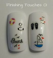 Nail Art Sticker- Boat Anchor Decal #68 K029 Holiday Beach Nautical Transfer