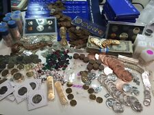 ESTATE LOT BULLION GOLD SILVER RUBY EMERALD SAPPHIRE COIN NUGGET GEMSTONE #%50
