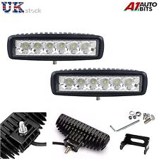 2X 18W 10-30V LED Work Lights Bar Spot Light Driving Lamps Offroad Car Truck SUV