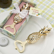 1 Gold Pineapple Beer Bottle Opener Wedding Shower Favor Tropical Beach Hawaii