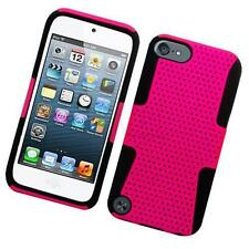 Black Pink Hybrid Hard Soft Case Silicone Impact Cover Dual For Apple itouch 5 6
