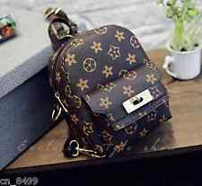 Women's Vintage Faux Leather Small Backpack Rucksack Travel Casual shouder bag