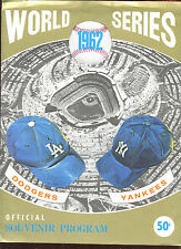 1962 World Series Program Phantom Cover New York Yankees vs Los Angeles Dodgers
