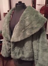 Vintage Faux Fur Mint Green Jacket